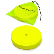 Marking discs ø 15,5 cm Set of 12 neon yellow