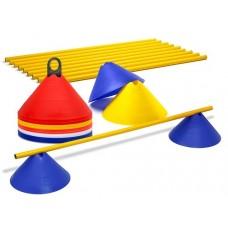 Jumbo cones – Hurdles set (10 hurdles)