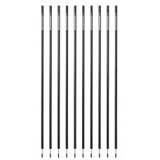 10 Slalom poles 160 cm diameter 25 mm - Black